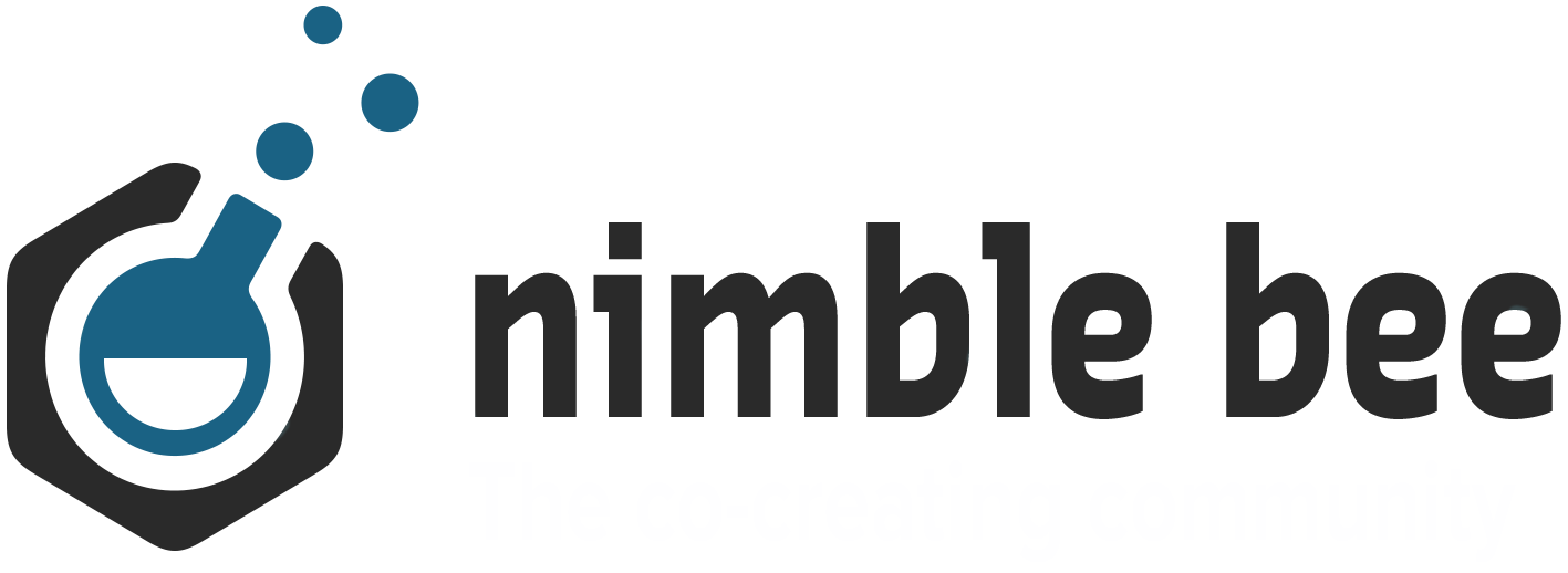 nimble bee logo large dark blue